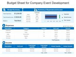 Budget Sheet For Company Event Development