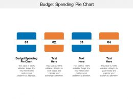 Budget Spending Pie Chart Ppt Powerpoint Presentation Visual Aids Cpb
