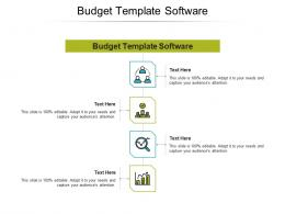 Budget Template Software Ppt Powerpoint Presentation Outline Infographic Template Cpb