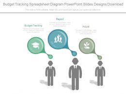 Budget Tracking Spreadsheet Diagram Powerpoint Slides Designs Download