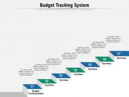 Budget Tracking System Ppt Powerpoint Presentation Slides Template Cpb
