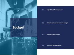 budget urban water management ppt structure