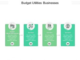 Budget Utilities Businesses Ppt Powerpoint Presentation Infographics Show Cpb