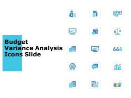 Budget Variance Analysis Icons Slide Compare Technology Ppt Powerpoint Presentation Show Outfit