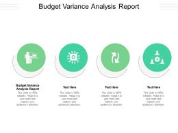 Budget Variance Analysis Report Ppt Powerpoint Presentation Ideas Example Introduction Cpb