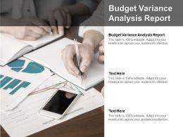 Budget Variance Analysis Report Ppt Powerpoint Presentation Portfolio Master Slide Cpb
