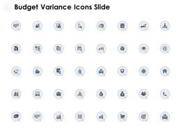 Budget Variance Icons Slide Compare Ppt Powerpoint Presentation Outline Skills