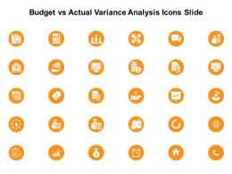 Budget Vs Actual Variance Analysis Icons Slide Dollar Growth E231 Ppt Powerpoint Presentation