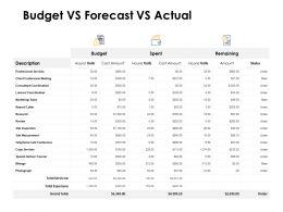 Budget Vs Forecast Vs Actual Measurement Ppt Powerpoint Presentation Icon Portrait