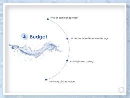 Budget Water Treatment Investment Budget Ppt Powerpoint Presentation Slides Information
