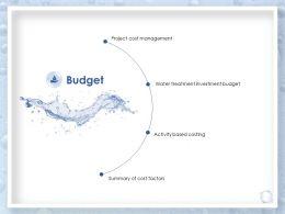 Budget Water Treatment Investment Budget Ppt Powerpoint Presentation Slides Information