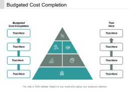 Budgeted Cost Completion Ppt Powerpoint Presentation Professional Slide Download Cpb