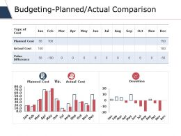 Budgeting-Planned Actual Comparison Ppt Styles Backgrounds