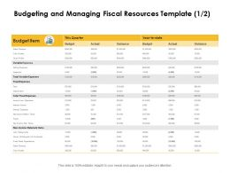 Budgeting And Managing Fiscal Resources Cost Ppt Powerpoint Model