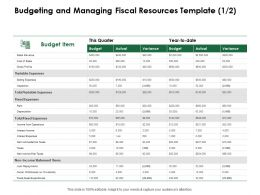 Budgeting And Managing Fiscal Resources Template Sales Revenue Ppt Powerpoint Download