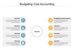 Budgeting Cost Accounting Ppt Powerpoint Presentation Show Example Cpb