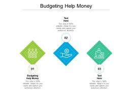 Budgeting Help Money Ppt Powerpoint Presentation Slides Background Image Cpb
