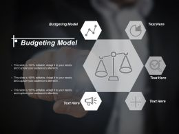 Budgeting Model Ppt Powerpoint Presentation Icon Designs Download Cpb