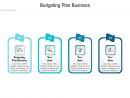 Budgeting Plan Business Ppt Powerpoint Presentation Show Clipart Cpb