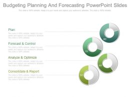 Budgeting Planning And Forecasting Powerpoint Slide