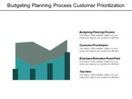 Budgeting Planning Process Customer Prioritization Employee Motivation Powerpoint Cpb