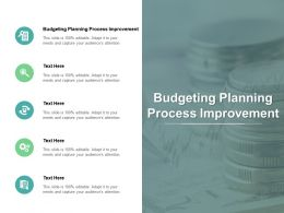 Budgeting Planning Process Improvement Ppt Powerpoint Presentation Styles Format Cpb