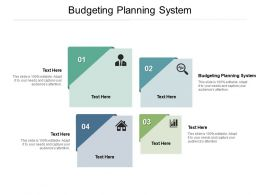 Budgeting Planning System Ppt Powerpoint Presentation Layouts Example Topics Cpb