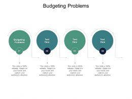Budgeting Problems Ppt Powerpoint Presentation Slides Vector Cpb