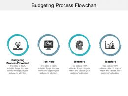 Budgeting Process Flowchart Ppt Powerpoint Presentation Outline Brochure Cpb