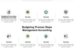 Budgeting Process Steps Management Accounting Ppt Powerpoint Presentation Summary Cpb