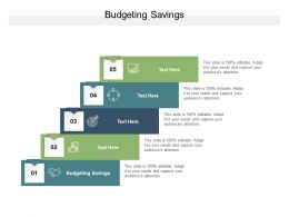 Budgeting Savings Ppt Powerpoint Presentation Pictures Model Cpb