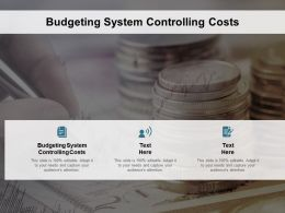Budgeting System Controlling Costs Ppt Powerpoint Presentation File Icons Cpb