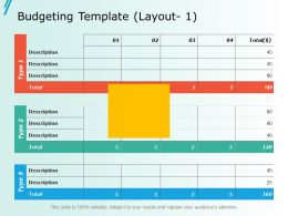 Budgeting Template Layout 1 Ppt Slides Layouts