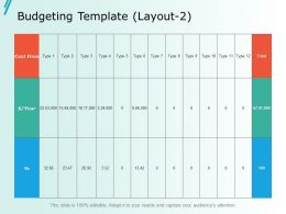 Budgeting Template Layout 2 Ppt Slides Model