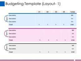 Budgeting Template Ppt Show