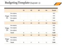 Budgeting Template Ppt Slides