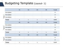 Budgeting Template Ppt Slides File Formats