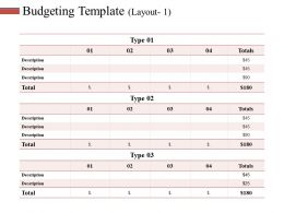 Budgeting Template Ppt Slides Smartart