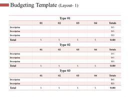 Budgeting Template Ppt Slides Smartart
