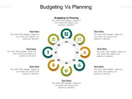 Budgeting Vs Planning Ppt Powerpoint Presentation Infographics Portfolio Cpb
