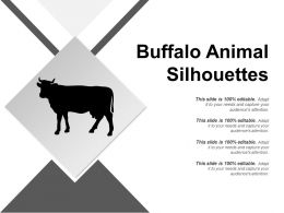 Buffalo Animal Silhouettes Sample Of Ppt