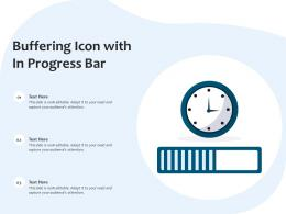 Buffering Icon With In Progress Bar