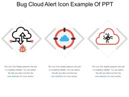 Bug Cloud Alert Icon Example Of Ppt