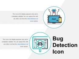 Bug Detection Icon Good Ppt Example