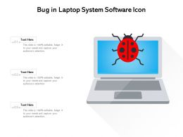 Bug In Laptop System Software Icon