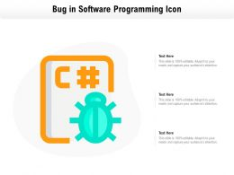 Bug In Software Programming Icon