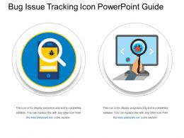 Bug Issue Tracking Icon Powerpoint Guide