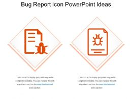 Bug Report Icon PowerPoint Ideas