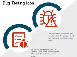 Bug Testing Icon Powerpoint Images