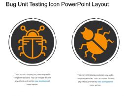 Bug Unit Testing Icon Powerpoint Layout